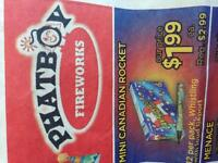 Phatboy Fireworks needs a flyer delivery person pay cash