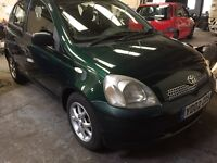 Toyota Yaris 1.3 5 Door 2003 in Green 11 months Mot 116k Miles