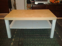 Coffee Table natural top with grey legs