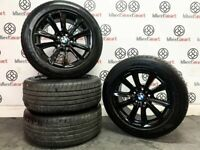 "GENUINE BMW 5 SERIES 17"" ALLOY WHEELS & TYRES - 5 x 120 -GLOSS BLACK - 339"