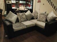 Brand new luxury sofa, not being used, bargain. Corner sofa, suite.