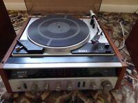 Vintage Sony HP211A Turntable/Radio