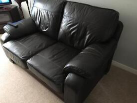 2&3 Seater Brown Leather