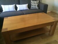 Fantastic Solid Oak Coffee Table, Very Good Condition