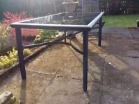 """""""Ellister Sant Marie"""" Glass topped garden table with lazy susan."""