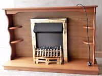 Electric fire with freestanding wood surround