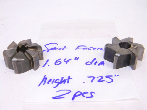 """USED 2PCS. HSS SPOT FACERS DIA: 1.64"""" (HEIGHT: .725"""")"""