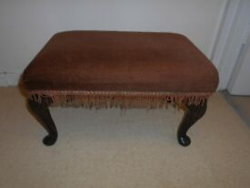 VINTAGE SHERBORNE ADJUSTABLE STOOL QUEEN ANNE LEGS - UPCYCLE PROJECT