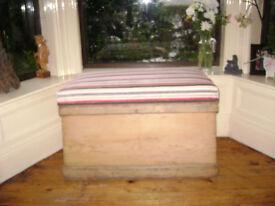 Antique Pine Linen/Blanket Chest