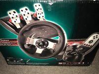Logitec g27 professional gaming steering wheel