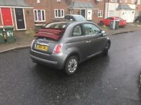 Fiat 500 2011 convertible twinairlounge 2dr cabriolet parkingsensors full mot history cruisecontrol