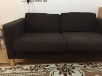 Ikea Karlstad brown sofa cover