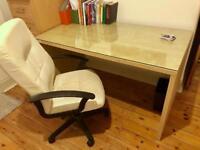 Office desk, chair