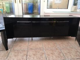 Black glass sideboard and side tables from Next