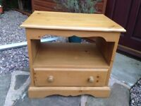 TV Stand solid pine wood, all in excellent condition.