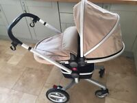 Silver Cross pushchair/pram with Sand package colour
