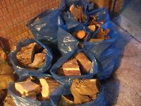 10 bags hardwood logs