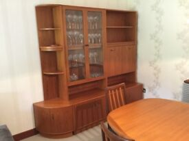 G plan teak display cabinet.
