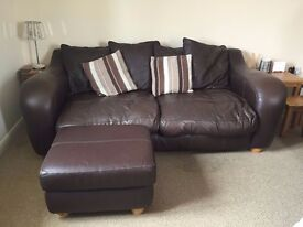 3&2 seater sofas with footstool