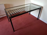 Ikea Granås Dining Table - glass and black metal (no chairs) - price reduced!