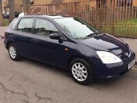 2001 SOLID 1.4 HONDA CIVIC AUTOMATIC WITH FULL SERVICE HISTORY ONE YEAR MOT LADY OWNER BARGAIN