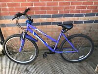 "Zambezi Terrain; 16"" Purple Frame Female Mountain Bike; 18 Gears; Front Susp; RECENTLY SERVICED"