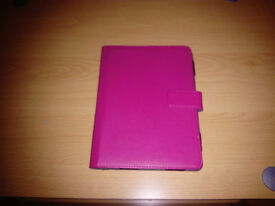 Pink tablet cover and holder