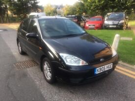 2005 BLACK FORD FOCUS ZETEC 1.8 WITH FULL MOT HISTROY