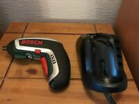 Bosch IXO 3.6V cordless re-chargeable screwdriver fully working with charger and driver bits