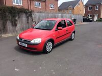 Cheap ideal first car 1 liter Vauxhall Corsa 03 reg low insurance group ,px welcome