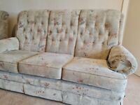 Parker Knoll 3 Seat Sofa and Reclining Armchair