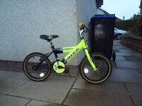 "Childs bike, Raleigh Charge, 16"" wheels, suit 3-5 year old, like new"