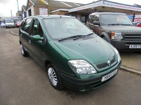 2001 y renault megane scenic 1.4 expression, 12 months mot. 30 + cars in stock.