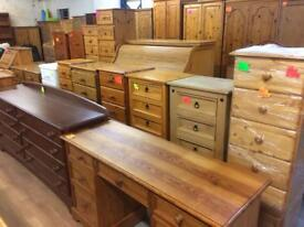 Quality used solid wood / pine dressing table & more