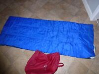 Blue Sleeping Bag (In a Red Bag)