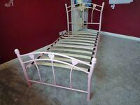 """""""Pink Heart"""" design single bed frame"""