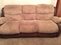 Fabric 3 Seater Settee Recliner (inc 2 Chairs)