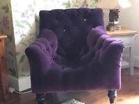 Velvet Harlequin Chair