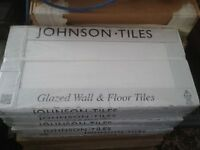 Johnsons - Warwick White Linear 3D Gloss tiles (WARW1L) x 5 boxes = 4.86 sq.m