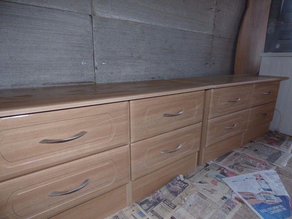 Light Wood veneered drawers