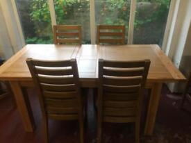 Oak dining set cheap only £299