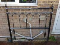 double bed metal frame