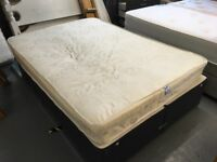 DOUBLE DIVAN BED AND MATTRESS (no storage drawers)