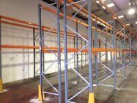 job lot 9 bay run of dexion pallet racking ( storage , shelving )