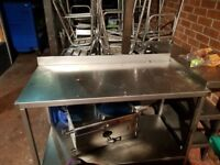 4 Foot Stainless Steel table