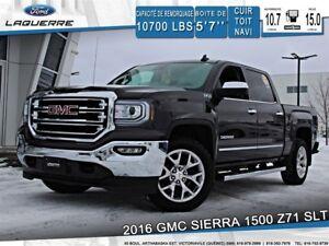 2016 GMC Sierra 1500 Z71 SLT*4X4**CUIR*TOIT*GPS*CAMERA* BLUETOOT