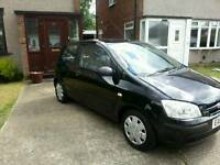 1089 CC BLACK HYUNDAI GETZ CDX , 3 DOOR, , LONG MOT AND 2 ORIGINAL KEYS