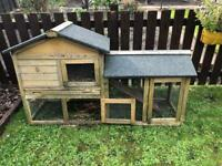 Used guinea pig/rabbit hutches - one outdoor, one for inside