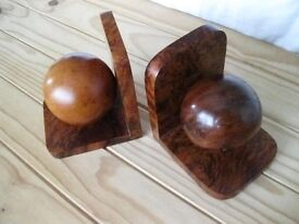 Pair Bookends Burr Walnut Book ends, Hand Made North african, unused