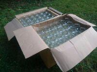 GLASS JARS *UNUSED*: Square 8oz Jars (144), 190ml Round Jars (82) plus lots of Gold & Black Lids